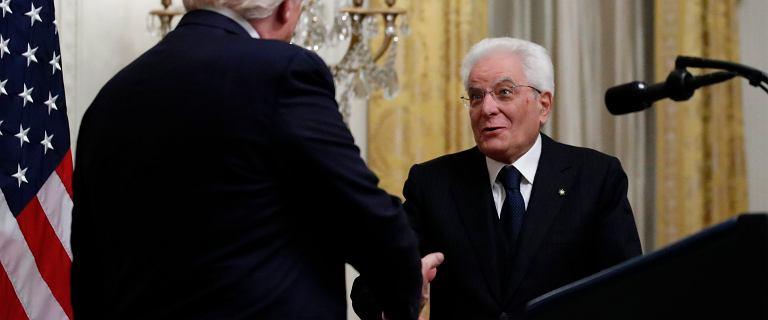 Trump zalicza wpadki na spotkaniu z prezydentem Włoch