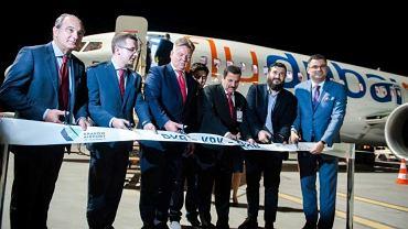 Uroczysta inauguracja połączenia flydubai na lotnisku w Krakowie