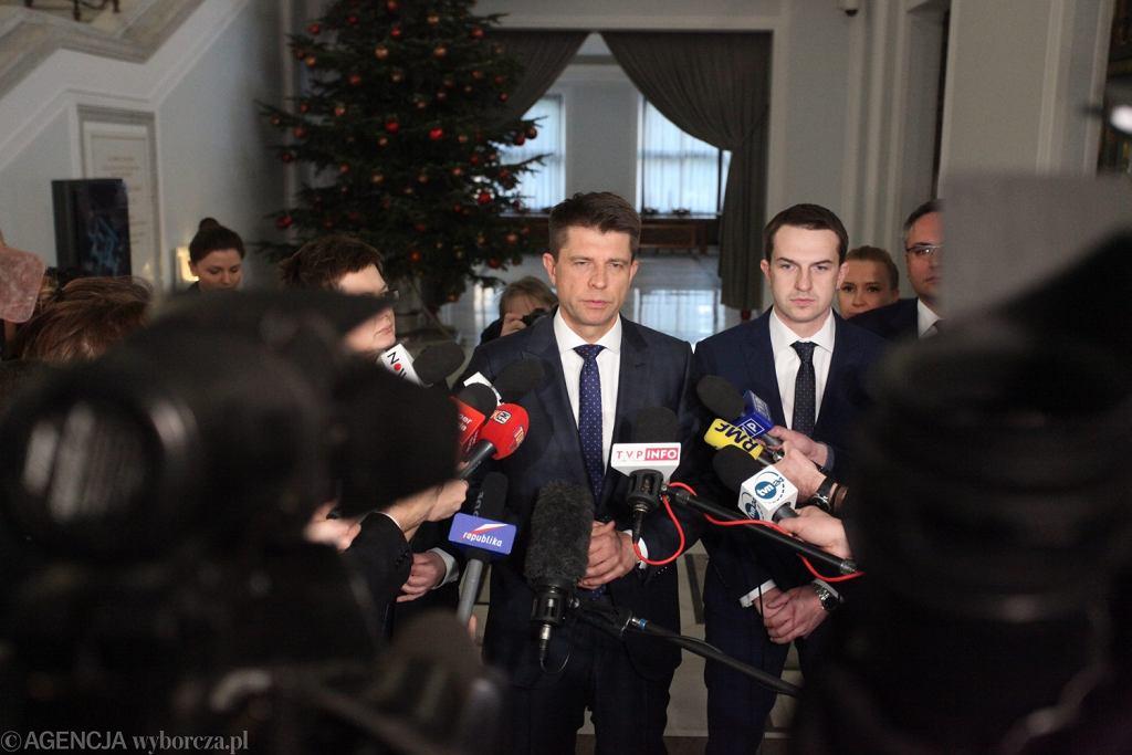 Konferencja prasowa Ryszarda Petru w Sejmie