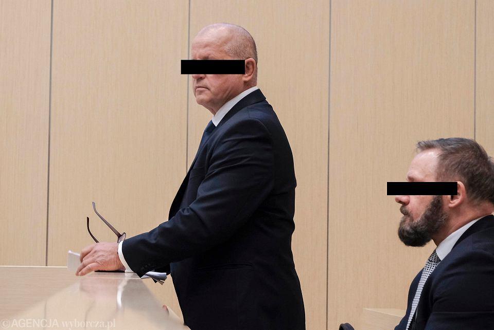 8 stycznia 2019 r. Proces 'Ryby' (z lewej) i 'Lali', byłych ochroniarzy Mariusza Świtalskiego, oskarżonych o porwanie w 1992 r. dziennikarza Jarosława Ziętary