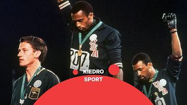 Tommie Smith i John Carlos protestują podczas igrzysk w Meksyku