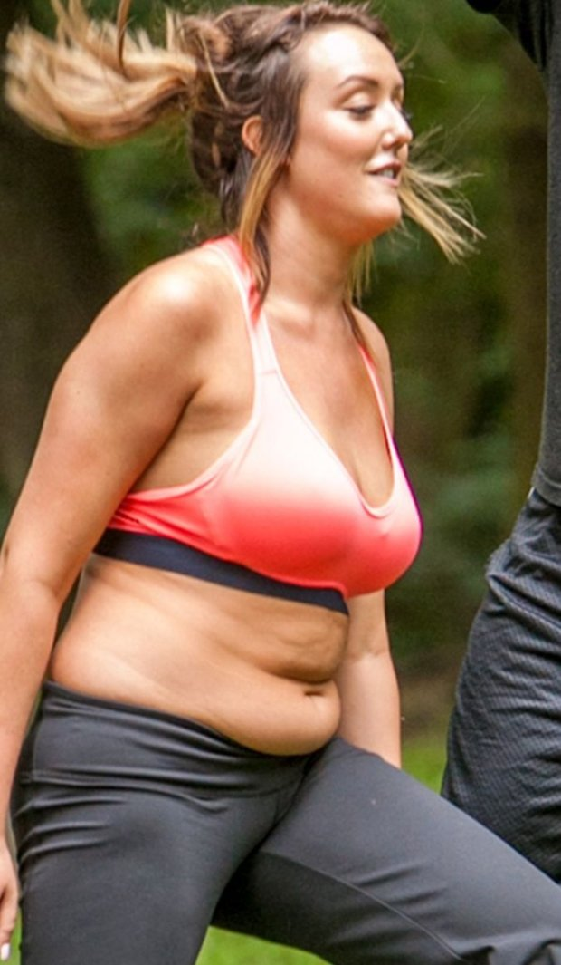LPicture Shows: Charlotte Crosby June 27, 2014 Geordie Shore Star and Celebrity Big Brother winner Charlotte Crosby seen starting weight loss training with a personal trainer in the British countryside. Exclusive All Rounder WORLDWIDE RIGHTS Pictures by : FameFlynet UK  2014 Tel : +44 (0)20 3551 5049 Email : info@fameflynet.uk.com