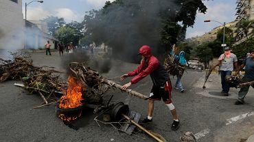 Wenezuelczycy protestują przeciwko biedzie i rządom Nicolasa Maduro, Cotiza pod Caracas, 21 stycznia 2019 r.