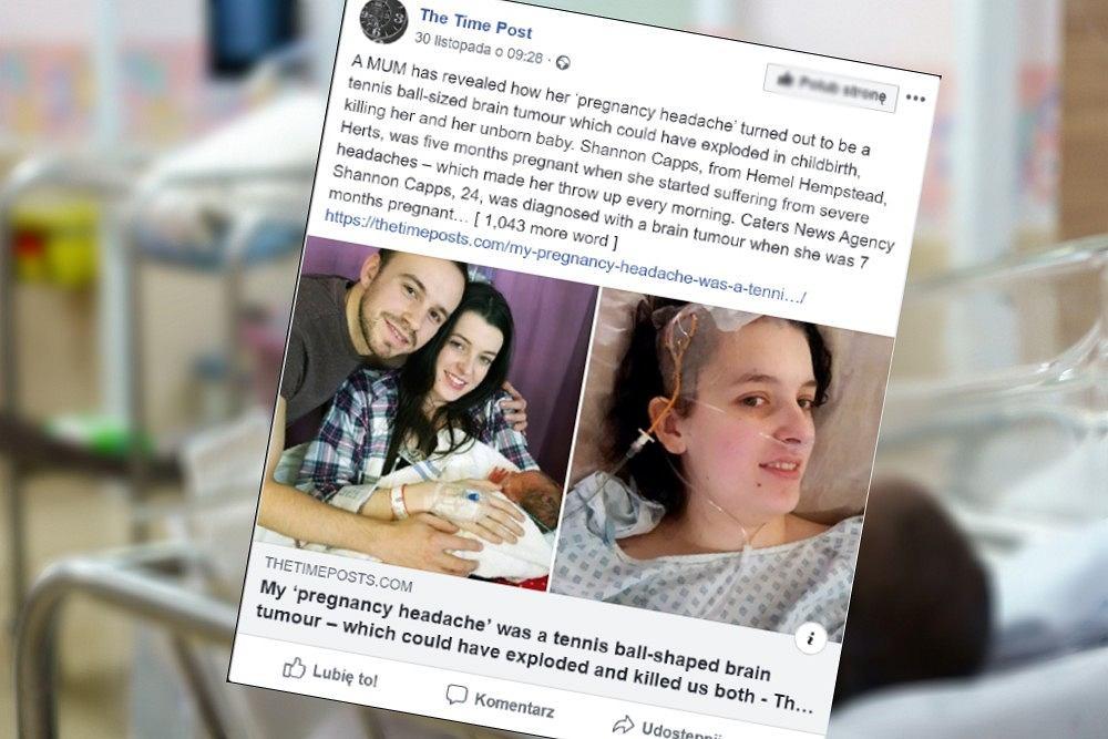 Kobieta w ciąży miała guza. Tydzień po operacji usunięcia, urodziła dziecko.