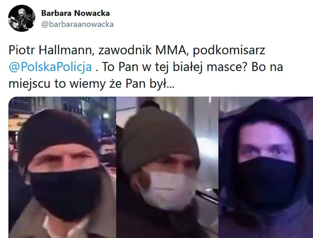 Barbara Nowacka opublikowała wizerunki policjantów uczestniczących w marszu kobiet