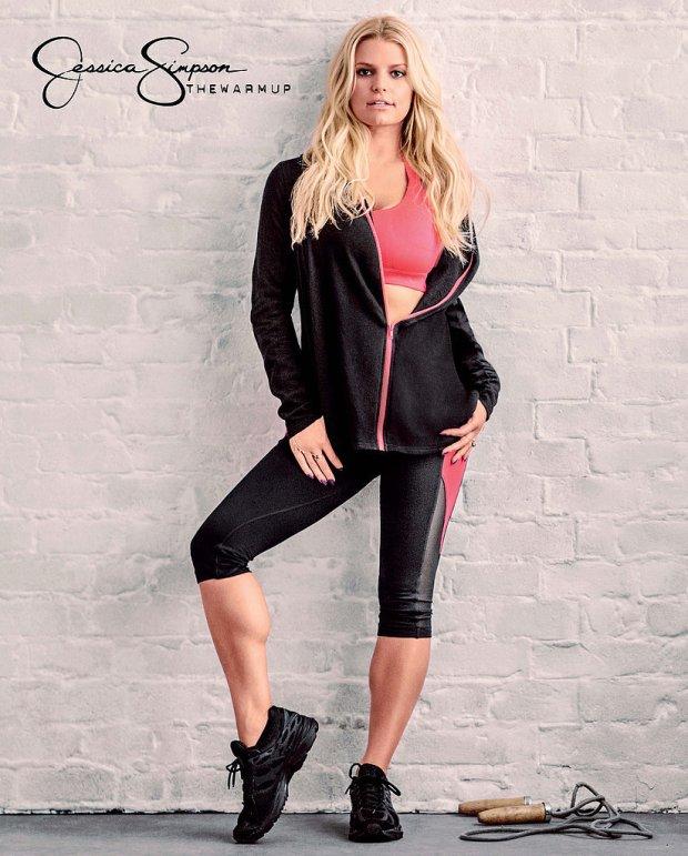 Jessica Simpson, ubrania sportowe Warm Up