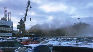 Russia Aircraft Carrier Fire