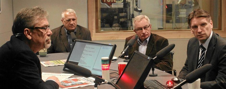 Tzw. trzódka w studiu radia TOK FM