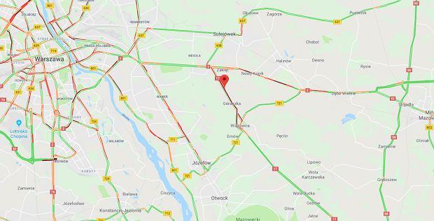 Wypadek na DK17 w miejscowości Majdan
