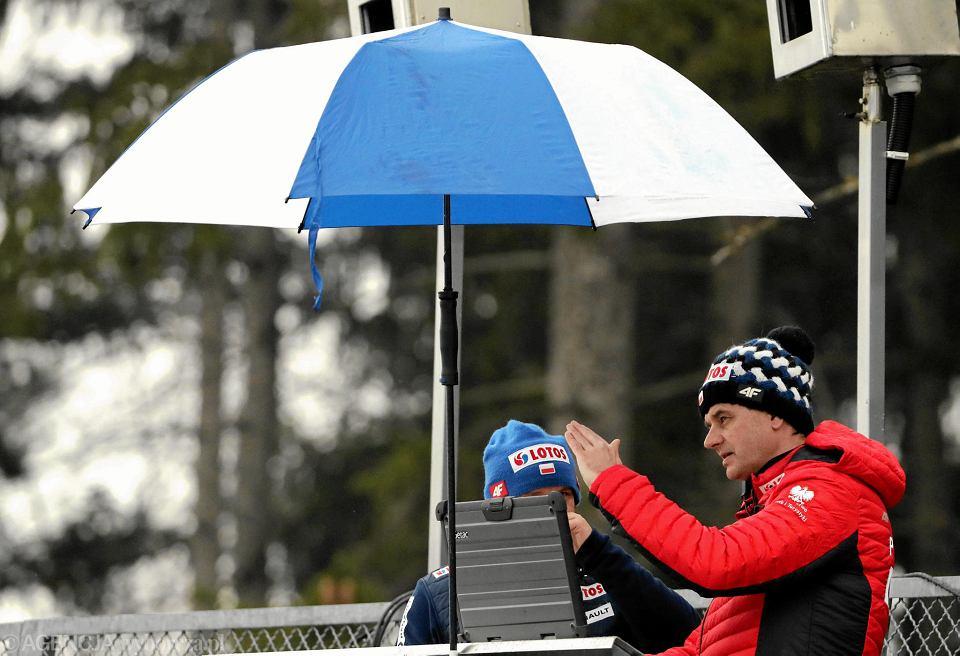Stefan Horngacher podczas mistrzostw świata w Seefeld