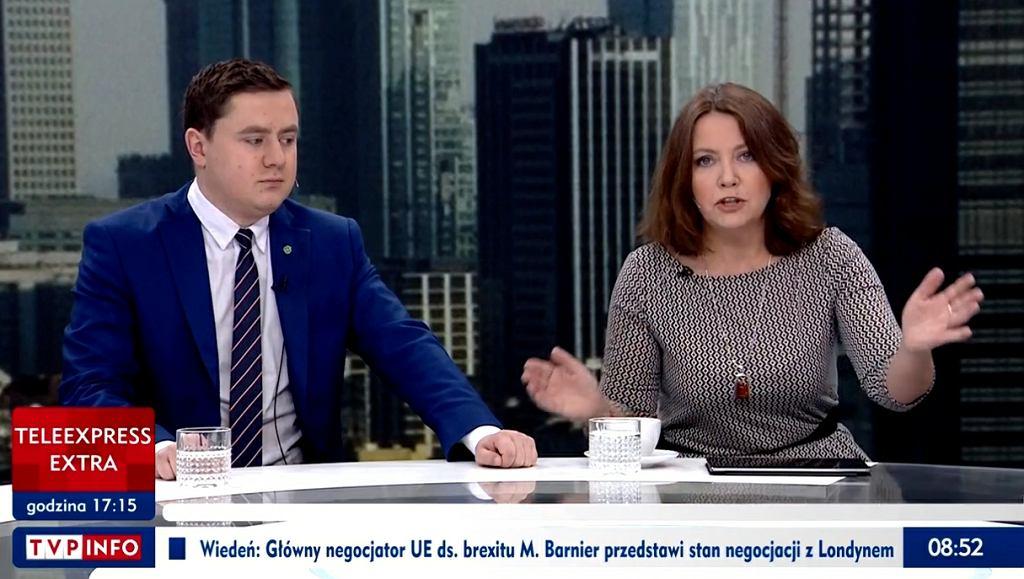 Joanna Lichocka oburzona w TVP Info