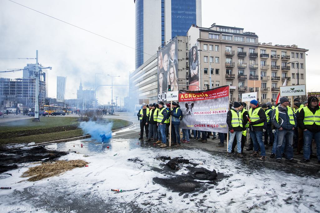z24542867IH,Protest-rolnikow-na-Placu-Za