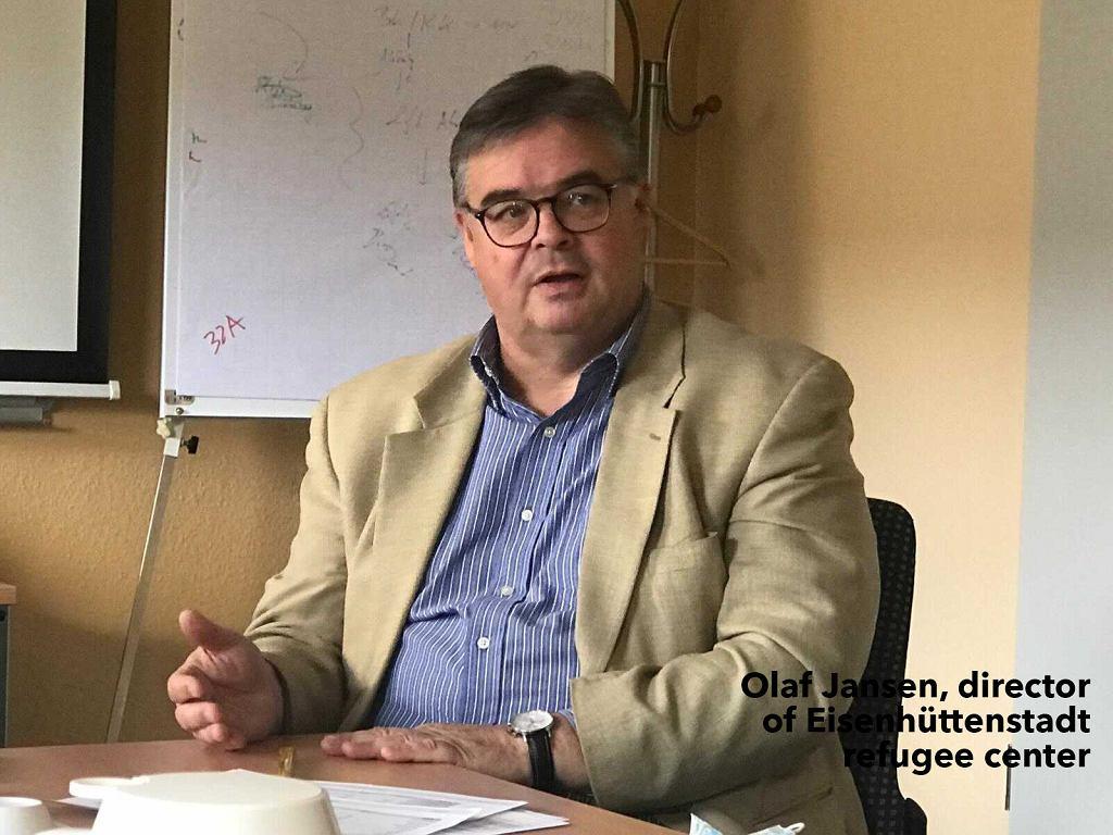 Olaf Jansen, kierownik ośrodka w Eisenhüttenstadt