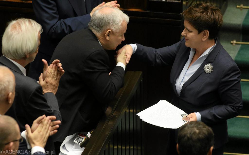 Jarosław Kaczyński podczas posiedzenia Sejmu 6.07.2016