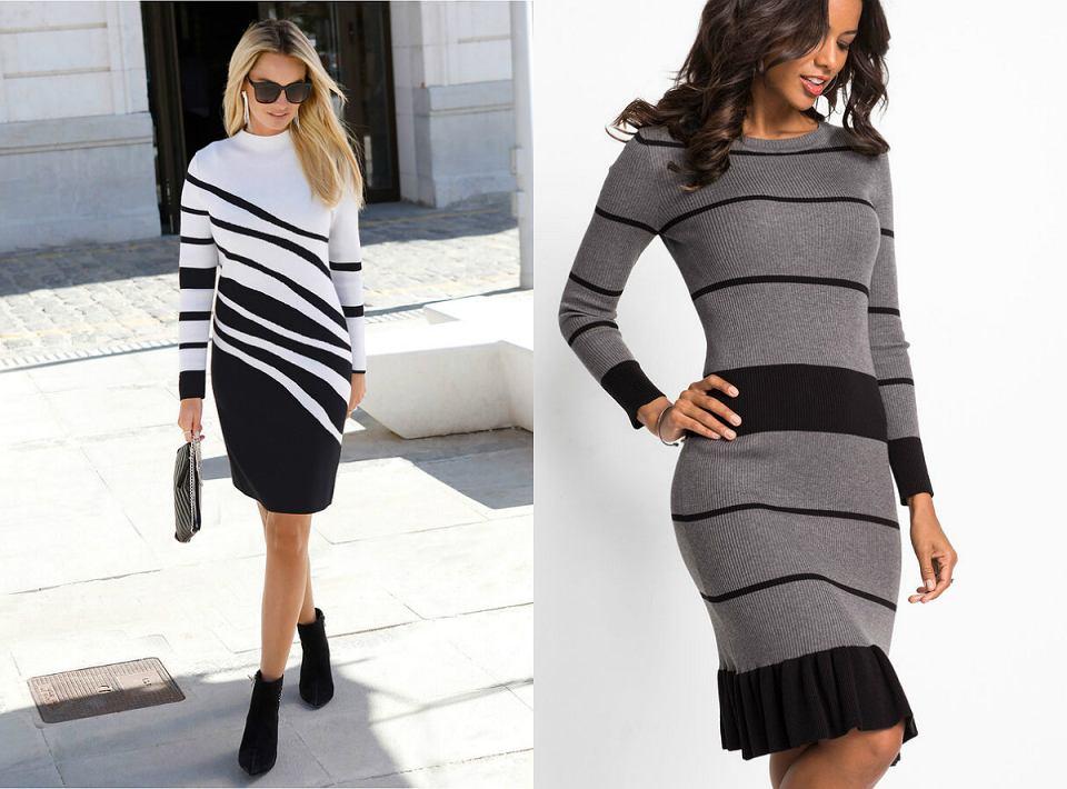 sukienki w paski