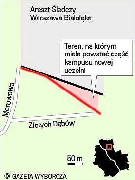 Las obok aresztu Białołęka