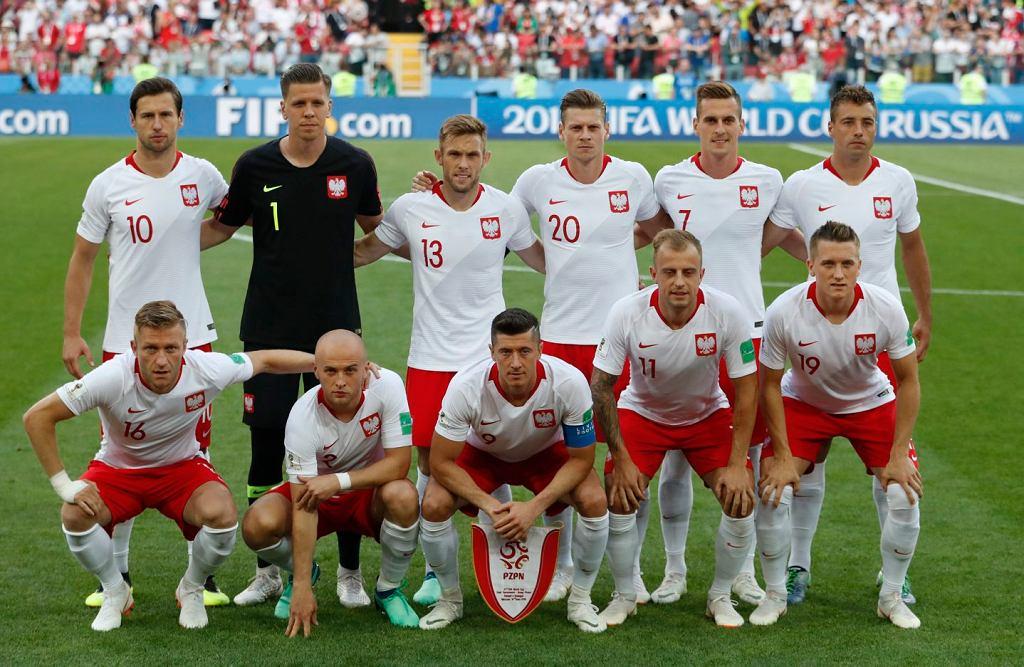 Drużyna reprezentacji Polski przed meczem z Senegalem