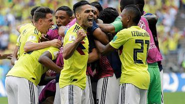Radamel Falcao. Mecz Kolumbia Japonia. Mistrzostwa świata w piłce nożnej w Rosji. Sarańsk, 19 czerwca 2018