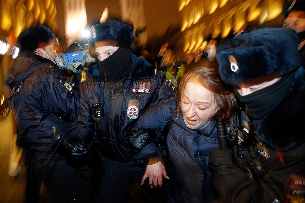 Rosja. Moskwa. Protesty po wyroku ws. Nawalnego