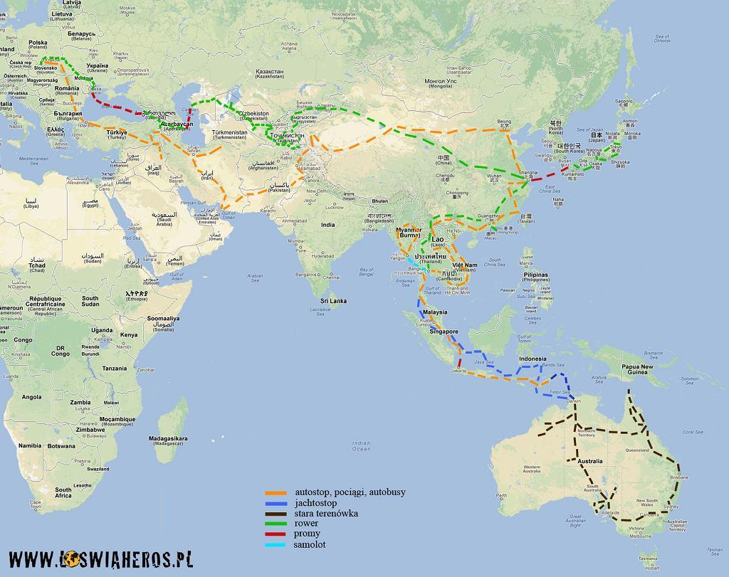 Trasa wyprawy