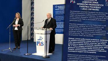 Oświadczenie Jarosława Kaczyńskiego ws. euro