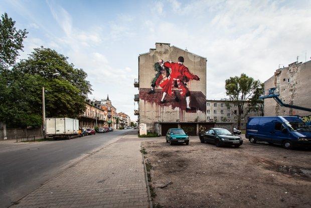 Warszawa. Street Art Doping 2015, praca Conora Harringtona