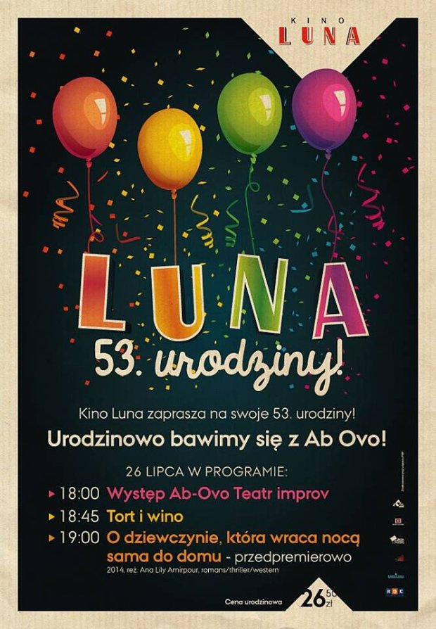 53. urodziny kina Luna