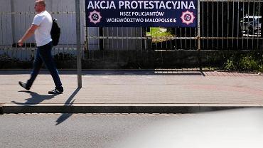 Akcja protestacyjna policji