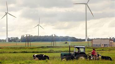 Farma wiatrowa w okolicach Koszalina