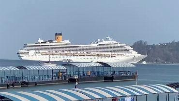 Statek  Costa Fortuna, który nie został wpuszczony do portów w Malezji i Tajlandii