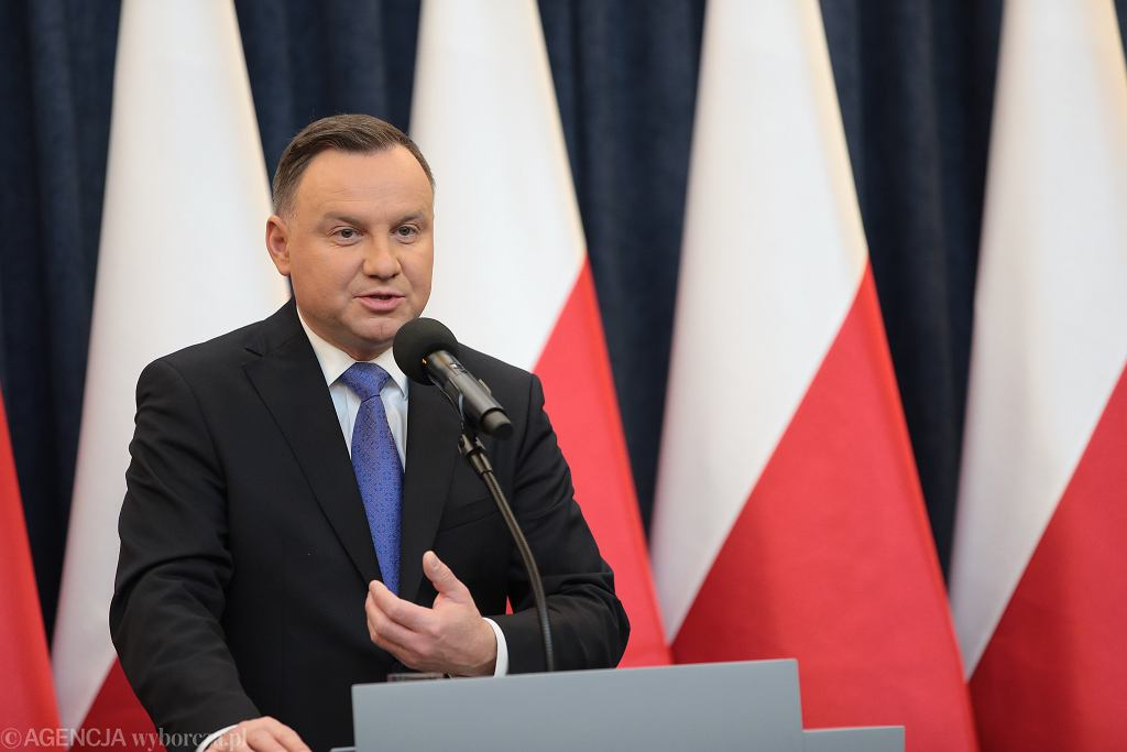 Briefing prasowy Prezydenta Andrzeja Dudy