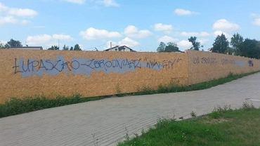 Napisy 'Łupaszko - ludobójca' po raz trzeci pojawiły się na Skorupach