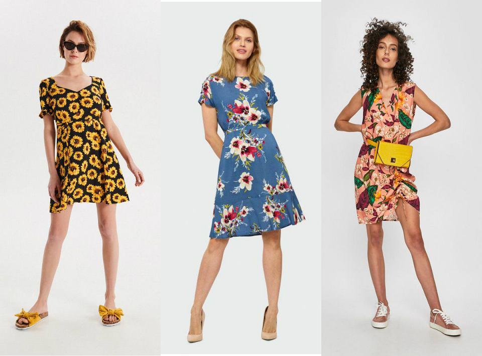 Letnie sukienki w pięknych, kwiatowych wzorach