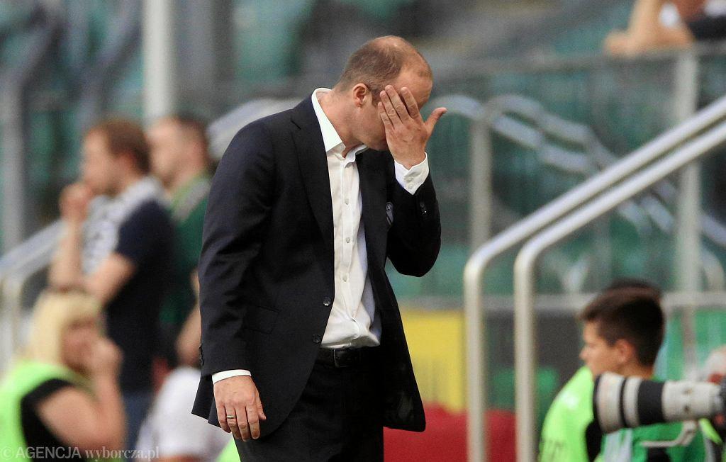 Aleksandar Vuković w trakcie meczu Legia - Zagłębie 2:2