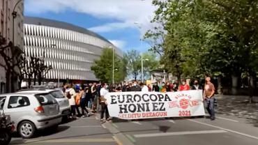 Manifestacja w Bilbao przeciwko organizacji Euro 2020