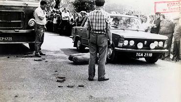 Zbrodnia Połaniecka. Zabójstwo Mieczysława Kality przy użyciu samochodu próbowano odtworzyć w czasie wizji lokalnej
