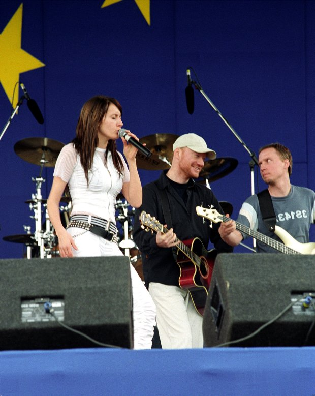 Monika Kuszyńska i Robert Janson w 2003 roku