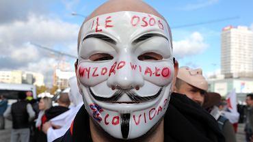 Warszawa - protest koronasceptyków