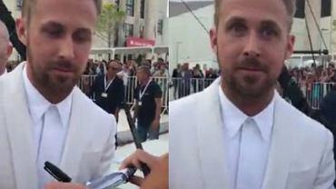 Reakcja Ryana Goslinga na pisk fanki
