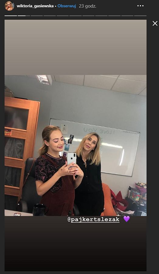 Wiktoria Gąsiewska w ciąży na planie serialu 'Pierwsza miłość'