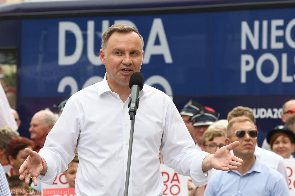 Wybory prezydenckie 2020. Andrzej Duda na Opolszczyźnie: LGBT to nie ludzie,  to ideologia. Tusk to największy kłamca III RP