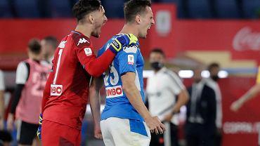 Arkadiusz Milik po zwycięskim golu w finale Coppa Italia