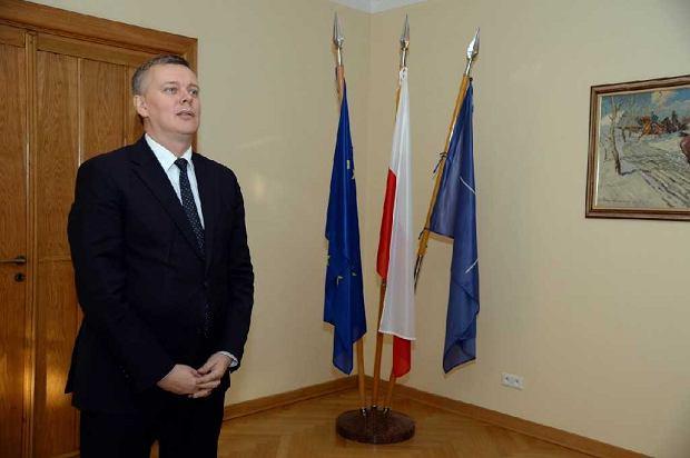 Tomasz Siemoniak w czasie, gdy był ministrem obrony narodowej w rządzie PO-PSL