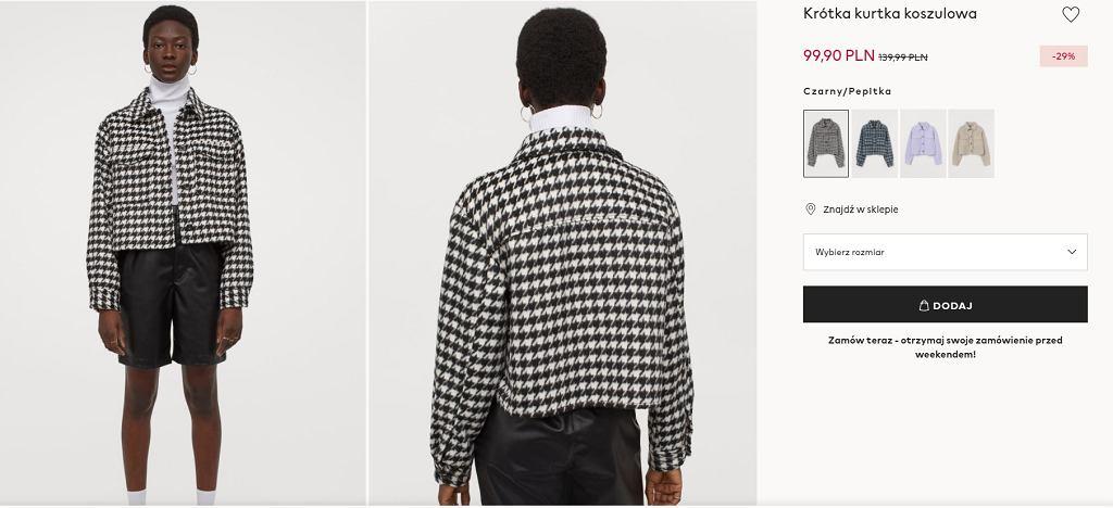 Koszulowa kurtka H&M