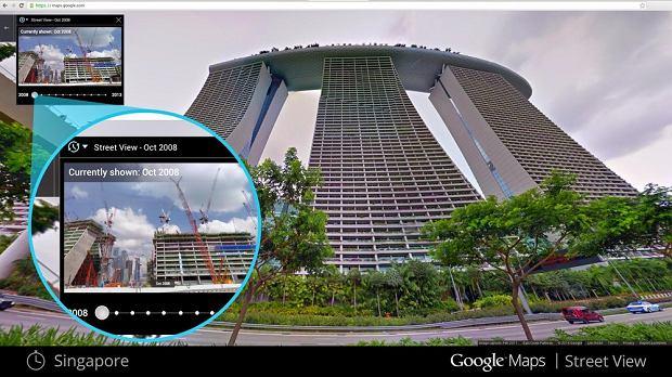 Oś czasu na Google Street View