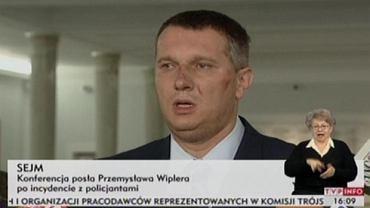 Przemysław Wipler podczas konferencji
