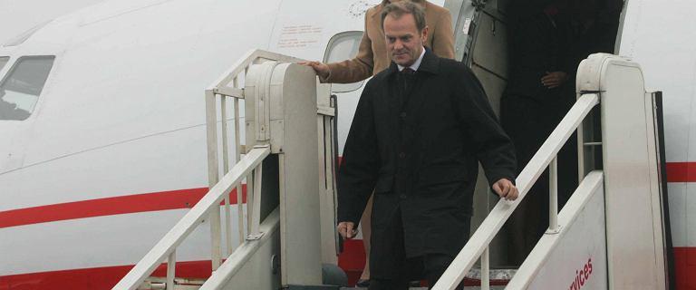 Kancelaria Premiera opublikowała wykaz lotów Donalda Tuska