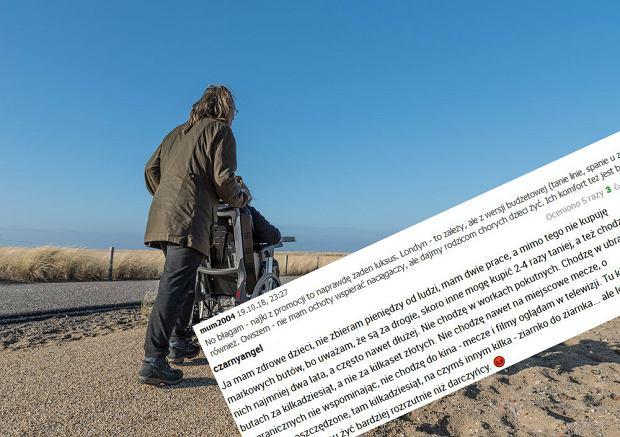 """""""Jak ma chore dzieci, powinna boso chodzić"""". Rodzice niepełnosprawnych dzieci nie mają prawa do przyjemności?"""