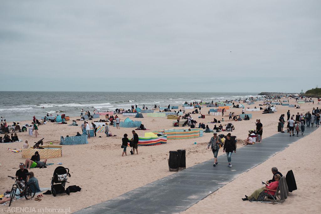 Plaża we Władysławowie 13.06.2020 r.