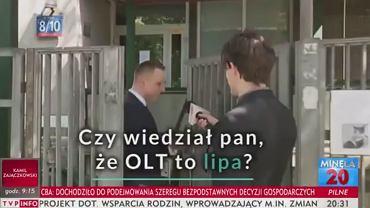 Reporter TVP Info odpytuje polityka PO